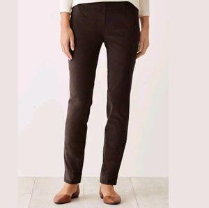 J.Jill fine wale stretch corduroy pants in Walnut